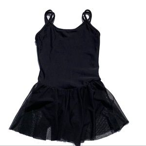 Capezio Girl's Black Dance Leotard Built in Tutu